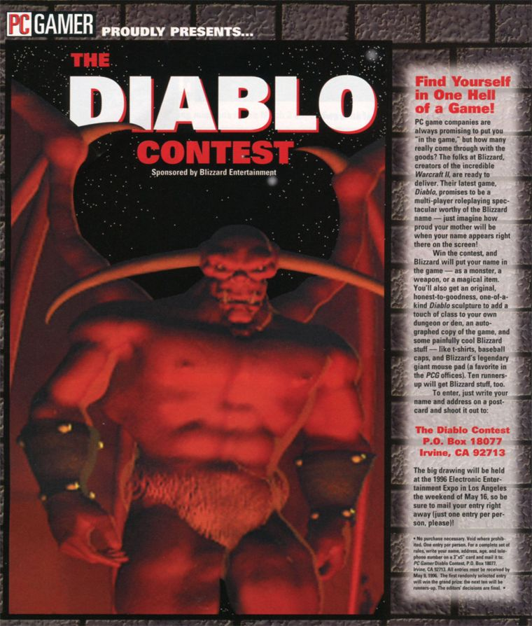 PC Gamer Diablo Contest