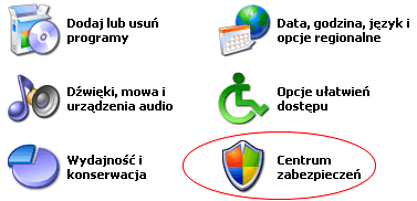 Zapora windows XP