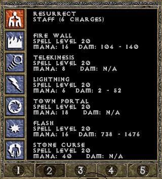 Diablo 1 spellbook page 2
