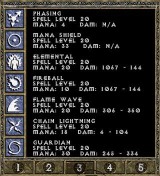 Diablo 1 spellbook page 3