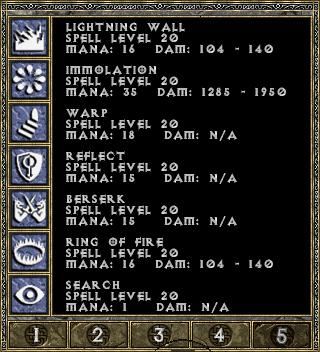 Diablo 1 spellbook page 5