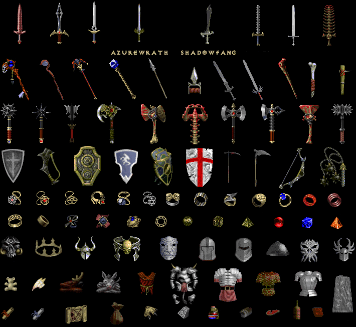 Diablo 1 Missing items, unused