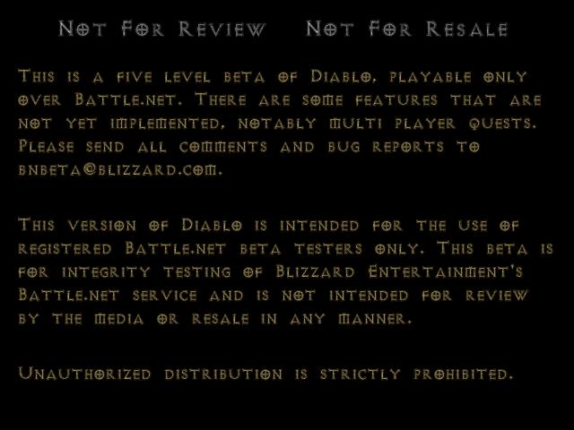 Diablo 1 menu