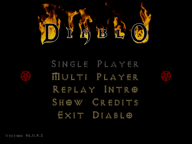 Diablo Beta menu