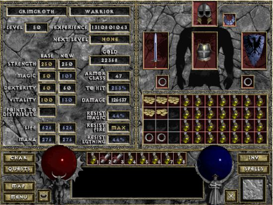 Screen 1 - Diablo